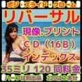 リバーサルフィルム現像(ポジフィルム現像)+プリント+L版各1枚プリント+Wインデックス+CD書き込み(高解像度16B)