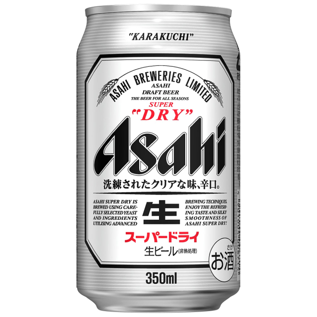 高岡大仏前 フレーバーズ木屋本店 アサヒスーパードライ350ml缶