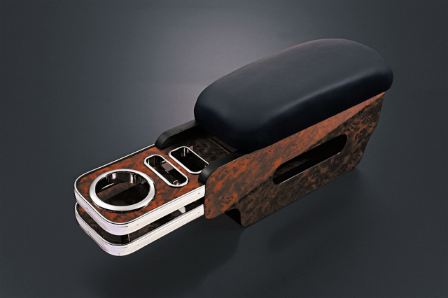 アームレスト ハイエース 200系 ワイド用 助手席 テーブル付き
