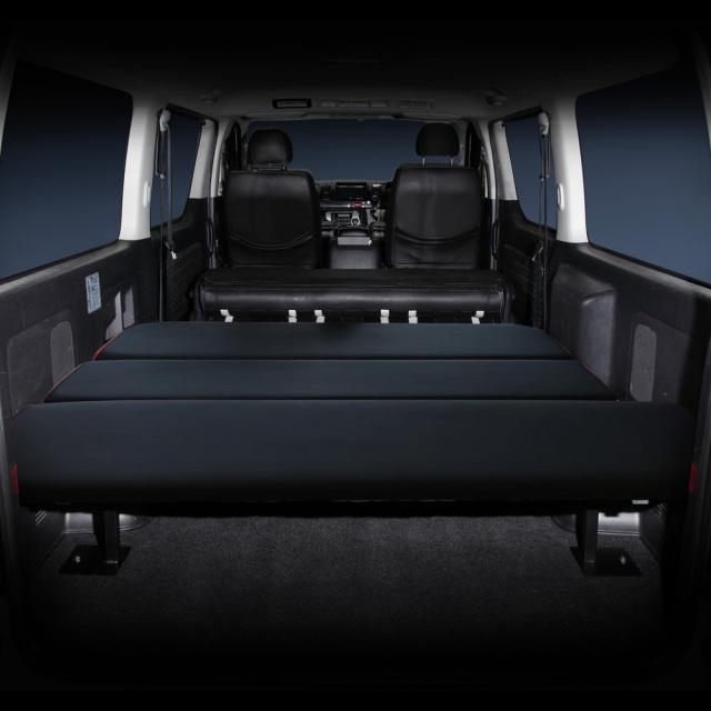 フレーダーマウス ハイエース標準車 ハイエース200系 ※1~6型まで対応 ハイエースバンDX ベッドキット(ブラック)&フレーム フルセット 工具仕分け 作業棚 車内カスタム