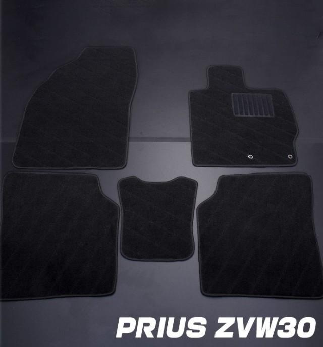 プリウス ZVW30 フロアマット トヨタ ブラック TOYOTA PRIUS