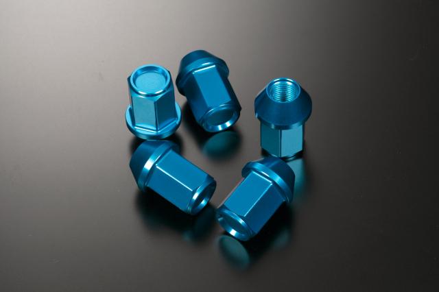 KYOEI LEGGOURA RACING カラーナット M12×P1.5/P1.25 軽合金 ブルー 5穴用1台分