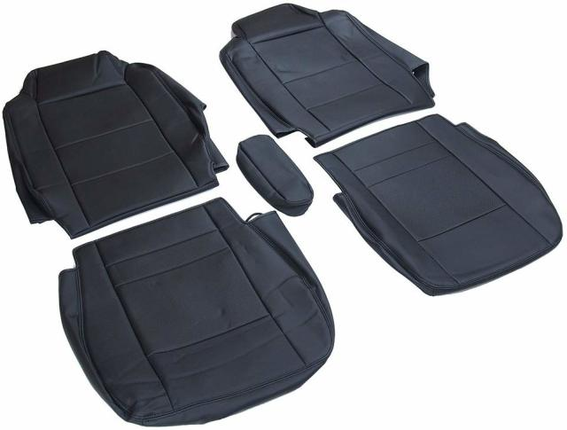シートカバー UD クオン ブラック PVCレザー H23/8~ トラック 運転席 助手席 1台分セット