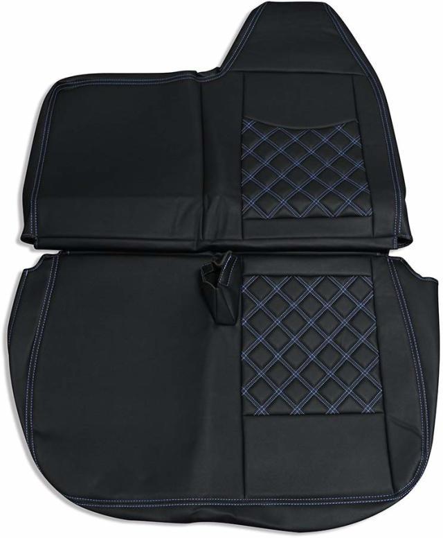 シートカバー ブルーテック キャンター 助手席用 三菱ふそう ダイヤキルト ブルーステッチ