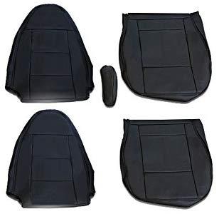 シートカバー スーパーグレート フロント 運転席 助手席 セット トラック ブラック パンチング