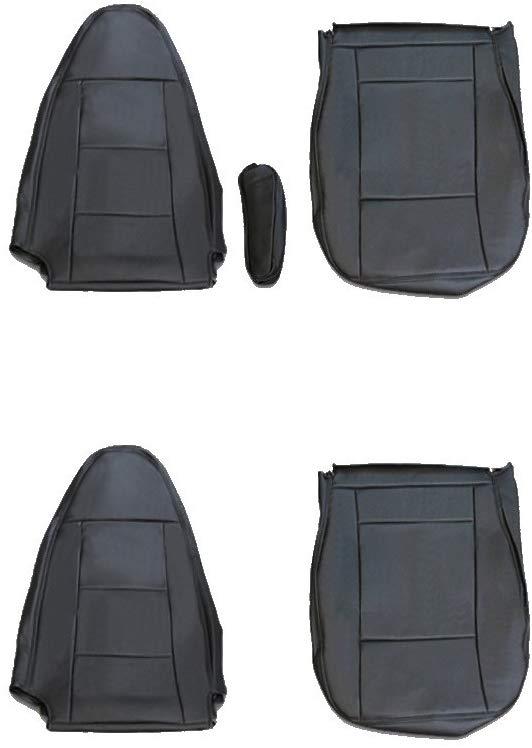 シートカバー ベストワン ファイター 艶無し 黒 運転席・助手席 1台分セット ブラック PVCレザー 三菱ふそう