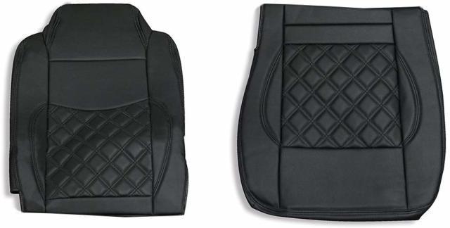 いすゞ ギガ用 シートカバー 助手席用 ダイヤキルト 黒糸 ブラックステッチ