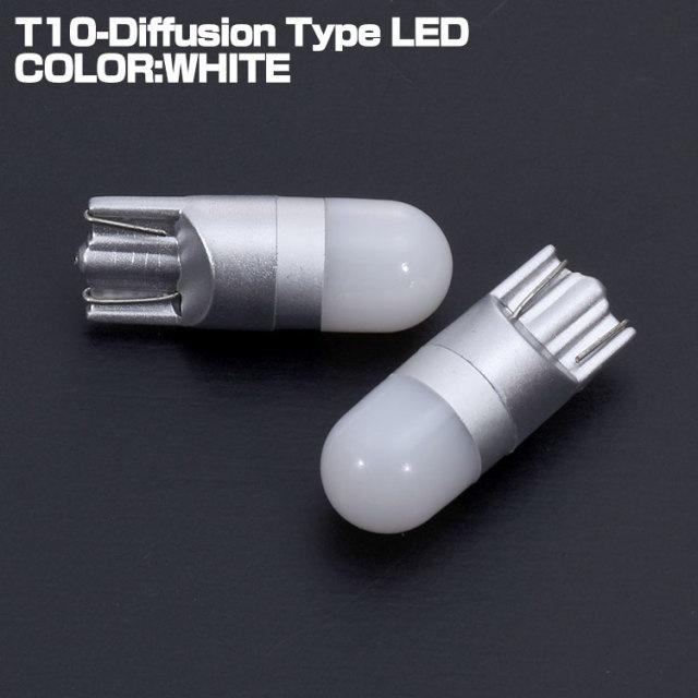 タント TANTO L35# L36# L37# L38# L375 L385 LA600 LA610 ダイハツ DAIHATSU LED バルブ T10 拡散ドーム型 ウェッジ球 ホワイト ポジション ナンバー ライセンス 2個セット