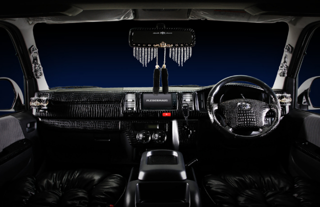 トヨタ ハイエース1~3型 標準ボディ用 インテリアパネル 12P クロコダイル