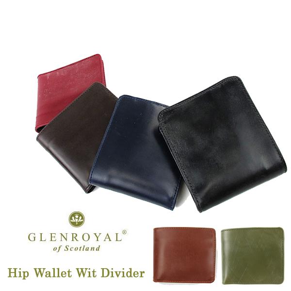 GlenRoyal 折り畳み財布 Hip Wallet Wit Divider 03-6171 グレンロイヤル〔TB〕
