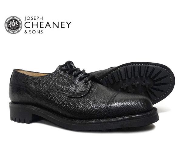 JOSEPH CHEANEY  ジョセフ チーニー CAIRNGORM ケンゴン BLACK GRAIN 5793/66 プレーントゥ シューズ ブラック ジボ革 *メンズ〔FL〕