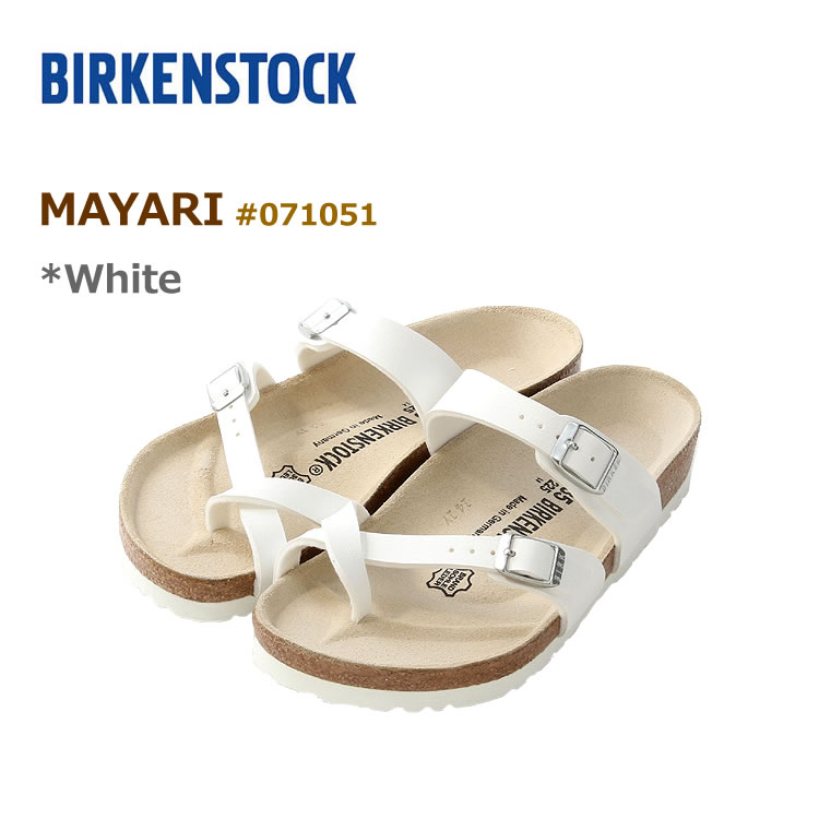 ビルケンシュトック マヤリ サンダル BIRKENSTOCK #071051 MAYARI WHITE 〔SK〕