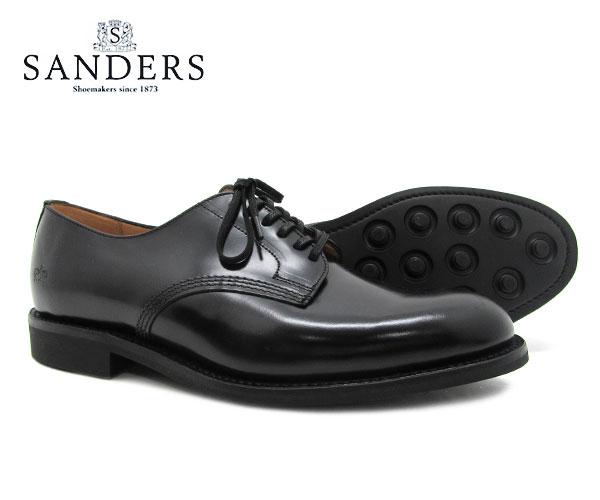 SANDERS サンダース Offi Shoe オフィサー シュー 1384B ブラック メンズ ビジネス シューズ BLACK 〔FL〕