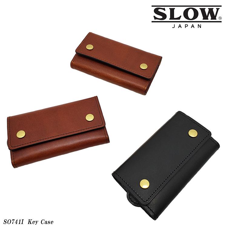 SLOW スロウ Key Case キーケース SO741I HERBIE LEATHERシリーズ メンズ レザー ブラック/キャメル/ブラウン