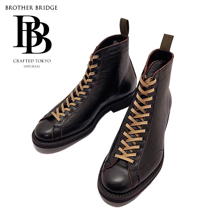 BROTHER BRIDGE ブラザーブリッジ HENRY ヘンリー ホースハイド 馬革 アスレチックブーツ レザー ブラック メンズ 〔FL〕