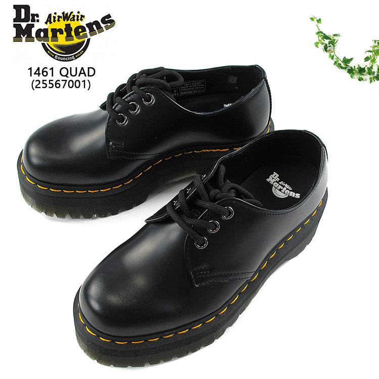 ドクターマーチン 3ホールシューズ レザーシューズ 革靴 厚底 クアッド レディース レザー ブラック 22cn/23cm/24cm/25cm 1461 QUAD 25567001
