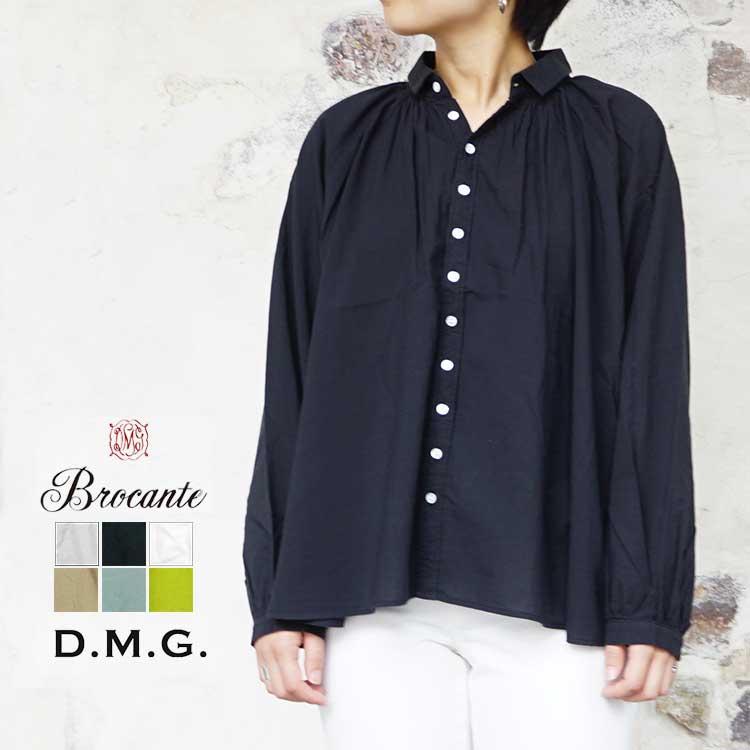 ドミンゴ dmg ディーエムジー Brocante ブロカント 60sローン グランロンシャツ レディース トップス Shirt LADIES オイスターグレー/ブラック/ホワイト/タン/グリーン 2/FREE #36-232X