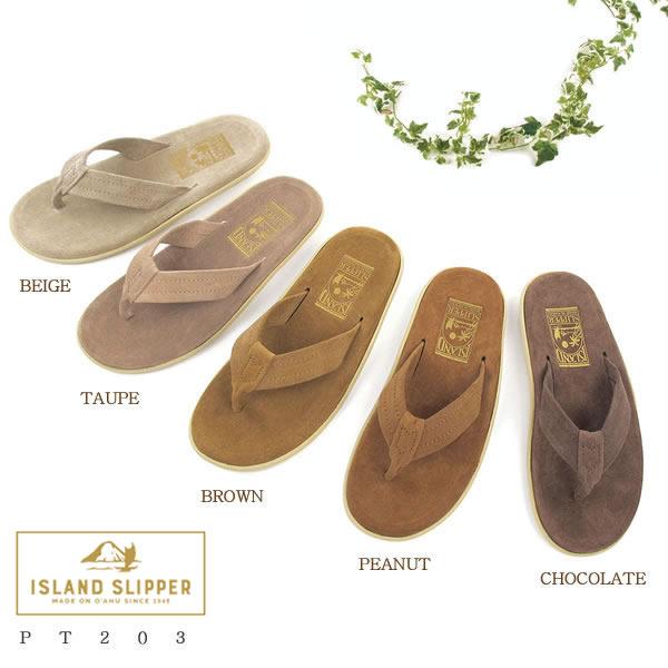 【送料無料】ISLAND SLIPPER(アイランドスリッパ) トングサンダル スェード ユニセックス PT203〔SF〕