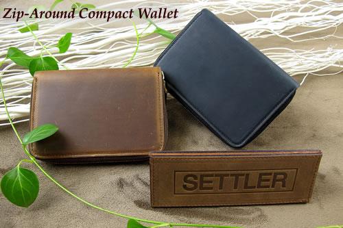 セトラー ジップ式2つ折り財布 SETTLER Zip-AroundCompactWallet OW-2534