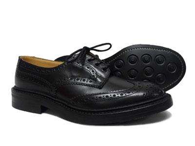 トリッカーズ バートン ウィングチップ カントリー ダイナイトソール Tricker's BOURTON M5633 <ブラック ><日本正規代理店規格モデル>短靴 ローカット〔FL〕