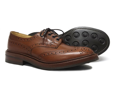 トリッカーズ バートン ウィングチップ カントリー ダイナイトソール Tricker's BOURTON M5633 <マロン・アンティーク>ブラウン<日本正規代理店規格モデル>短靴 ローカット〔FL〕