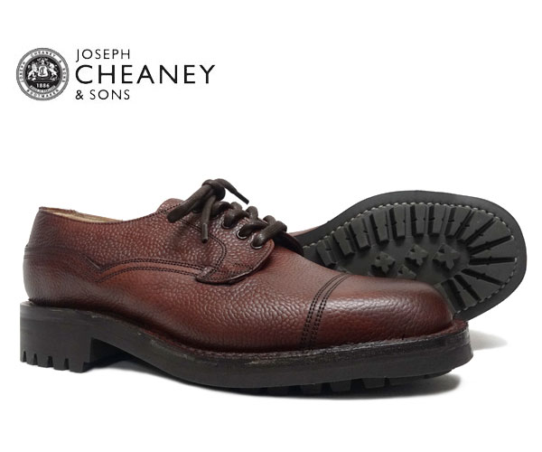 JOSEPH CHEANEY  ジョセフ チーニー CAIRNGORM ケンゴン BURGUNDY GRAIN 5793/67 プレーントゥ シューズ バーガンディー ジボ革 *メンズ〔FL〕