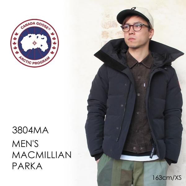 【交換送料無料】 カナダグース CANADA GOOSE ダウンジャケット マクミラン パーカ MEN'S MACMILLIAN PARKA FF 3804MA メンズ 20秋冬 フード付き シンプル ダブルジップ ボタン XS/S/M/L/XL