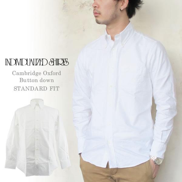Individualized Shirts CAMBRIDGEOXFORD インディビジュアライズドシャツ ケンブリッジオックスフォード スタンダードフィット ボタンダウン メンズ〔FL〕