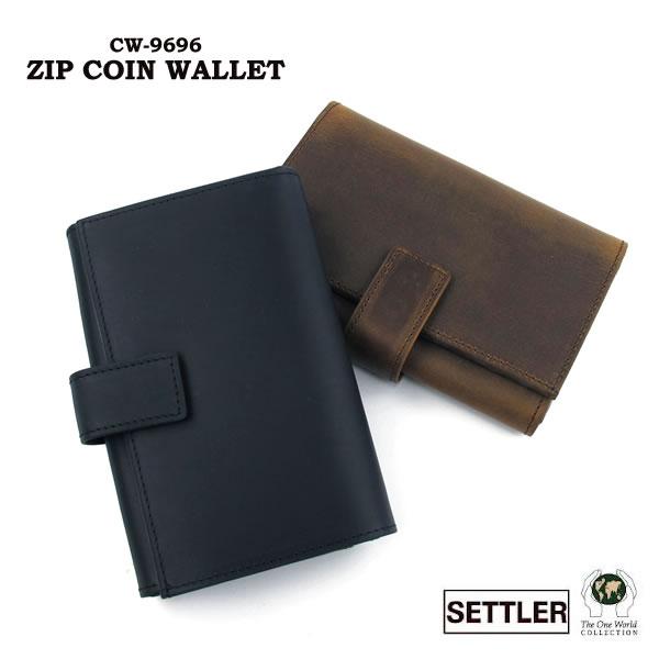 セトラー 財布 ジップ式小銭入れ SETTLER Zip Coin Purse With Tab OW-9696 ホワイトハウスコックスのデフュージョンブランド〔FL〕