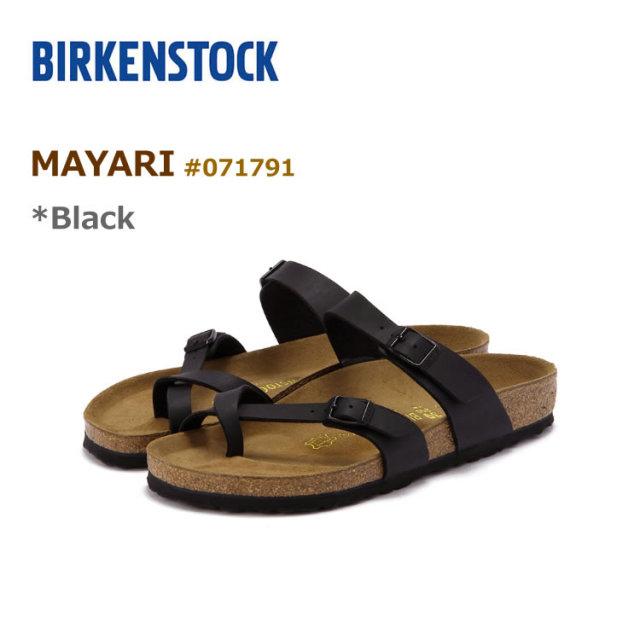 ビルケンシュトック マヤリ サンダル BIRKENSTOCK #071791 MAYARI BLACK 〔SK〕