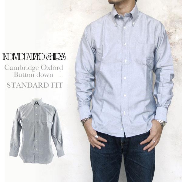 Individualized Shirts CAMBRIDGEOXFORD STANDARD FIT GREY インディビジュアライズドシャツ ケンブリッジオックスフォード グレー グレイ スタンダードフィット ボタンダウン メンズ〔FL〕