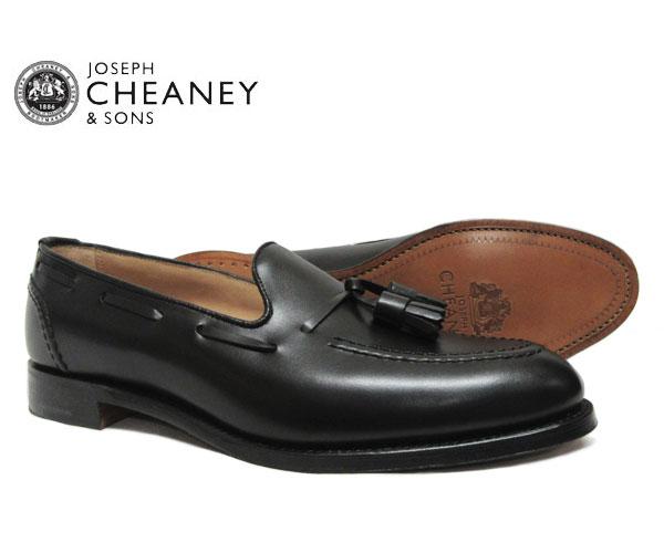 JOSEPH CHEANEY ジョセフ チーニー HARRY ハリー BLACK 5788/22 タッセルローファー ブラック *メンズ〔FL〕