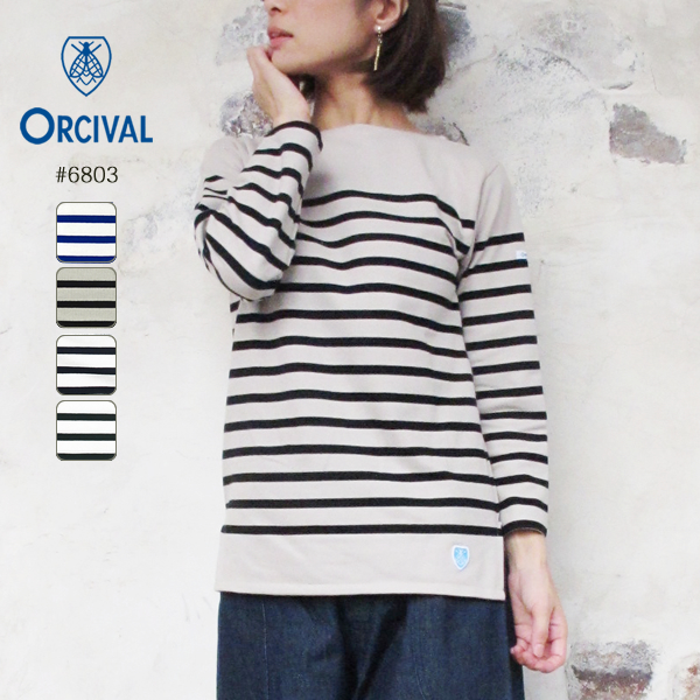 オーシバル オーチバル ラッセル フレンチセーラー Tシャツ レディース 20春夏 ORCIVAL T-Shirt LADIES 20SS ブルー/ブラック/ベージュ/ホワイト S/M/L/LL #6803 〔SK〕