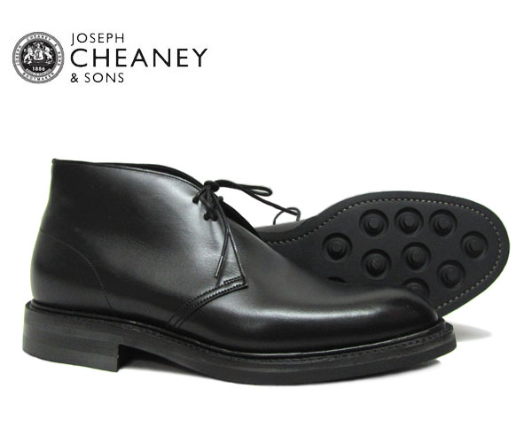 JOSEPH CHEANEY  ジョセフ チーニー  クロウフィールド CROWFIELD  BLACK ビジネス 5793/99  ブラック *メンズ チャッカブーツ シューズ〔FL〕