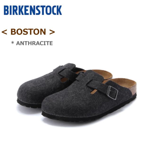 ビルケンシュトック ボストン アンスラジット(ダークグレー) BIRKENSTOCK BOSTON #160373<ナロー幅/幅狭> #160371<ノーマル幅/幅広>〔SK〕