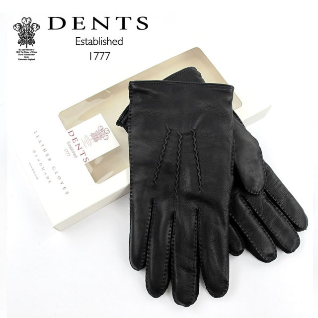 DENTS レザー 手袋 メンズ 羊革 カシミヤライニング ストー デンツ ヘアシープ STOWE HAIRSHEEP CASHMERE LINER 15-1035〔FL〕