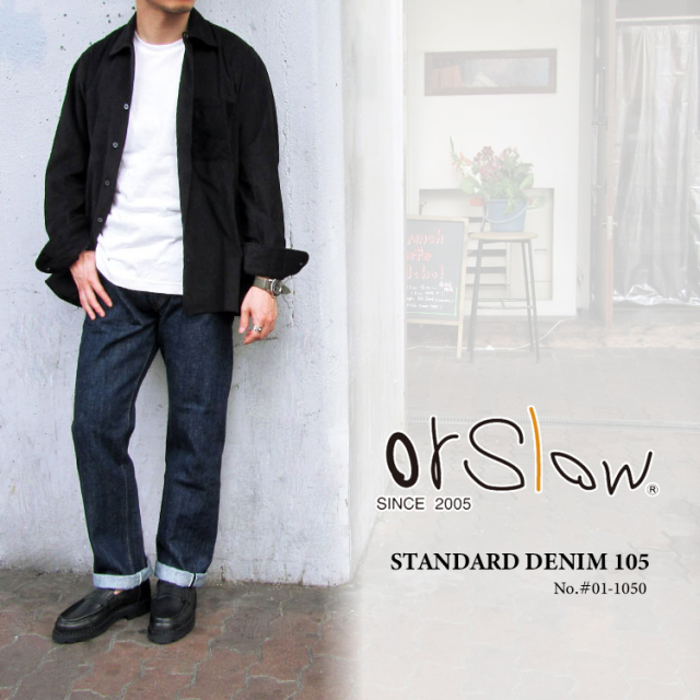 orSlow オアスロウ メンズ STANDARD DENIM 105 #01-1050〔FL〕