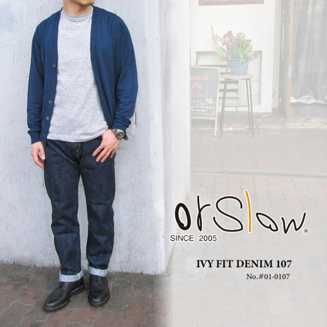 orSlow オアスロウ メンズ  IVY FIT DENIM 107 #01-0107〔FL〕