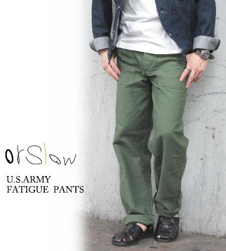 オアスロウ orslow メンズ ファティーグパンツ US ARMY FATIGUE PANTS ベイカーパンツ 日本製〔FL〕