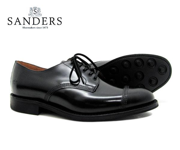 SANDERS サンダース Military Derby Shoe ミリタリー ダービー シュー 1128B ブラック メンズ ストレートチップ キャップトゥ 〔FL〕