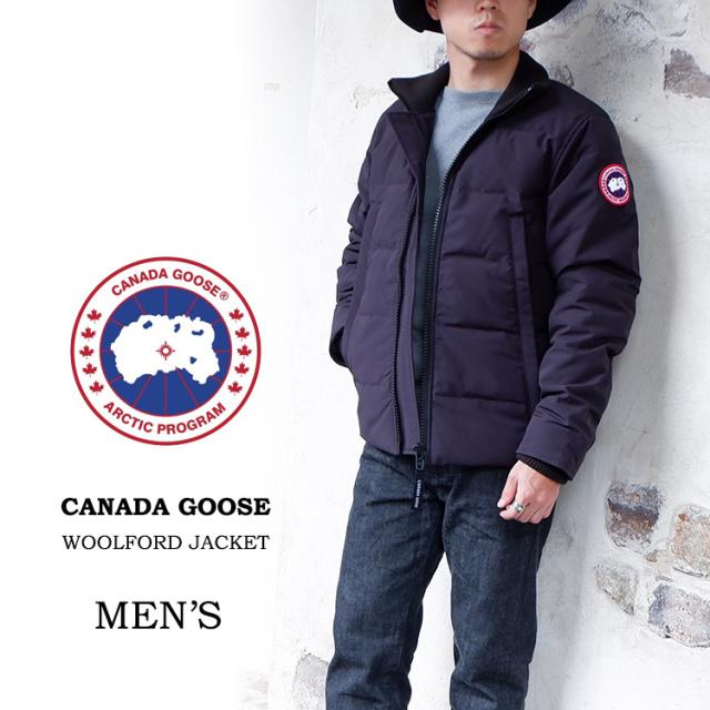 【交換送料無料】 カナダグース CANADA GOOSE ダウンジャケット ウールフォードジャケット MEN'S WOOLFORD JACKET INLINE 3807M メンズ 20秋冬 フードなし ダブルジップ インライン ブラック 黒 XS/S/M/L/XL