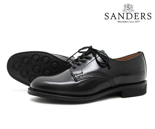 【お手入れ用山羊毛ブラシプレゼント中♪】SANDERS サンダース Female Plain Toe Shoe レディース プレーン トゥ シュー 1522B ブラック ビジネス シューズ BLACK 〔FL〕