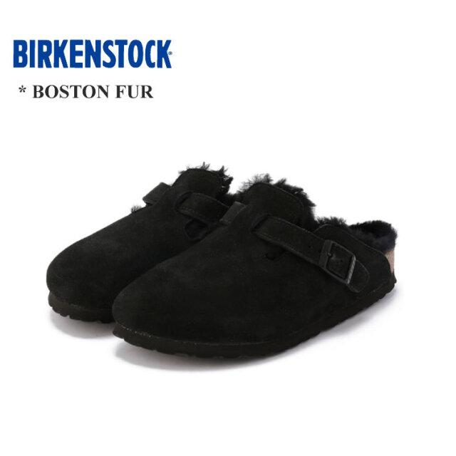 ビルケンシュトック ボストン ファー スリッポン レディース シューズ BIRKENSTOCK BOSTON FUR LADIES Shoes ブラック 35/36/37/38/39/40/41/42 ナロー幅/幅狭 レギュラー幅/幅広 #259883 #259881