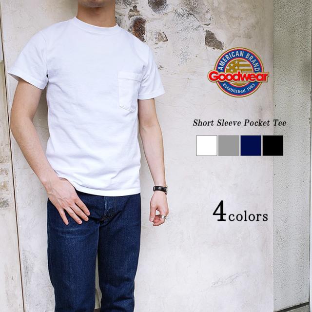 Goodwear グッドウェア Short Sleeve Crew Neck Pocket Tee ポケットTシャツ メンズ 〔FL〕
