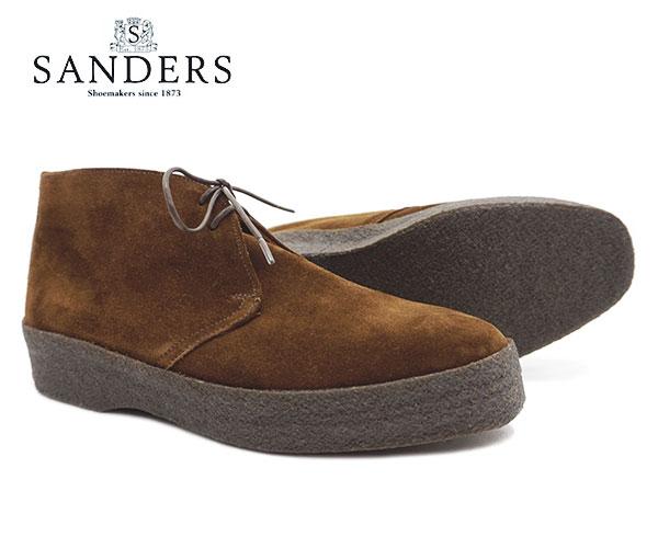 SANDERS サンダース ブリット チャッカ メンズ Brit Chukka 9877PSS Snuff Brown Suede ブラウン スエード ブーツ〔FL〕