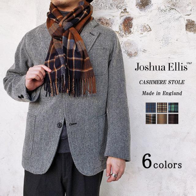 Joshua Ellis ジョシュアエリス カシミヤストール メンズ レディース 秋冬 チェック 30×180cm 〔FL〕