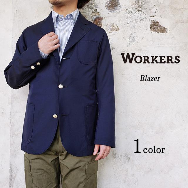 Workers ワーカーズ Blazer ブレザー メンズ 春夏用 ウールモヘア トロピカル ネイビー 〔FL〕