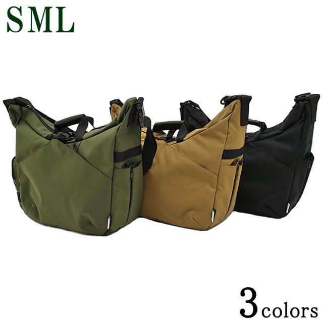 SML エスエムエル 2WAY SHOULDER BAG ショルダーバッグ 909389 ナイロン 黒/ベージュ/カーキ