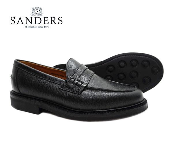 SANDERS サンダース Beef Roll Loafer ビーフロール ローファー 2150BG ブラック グレインレザー メンズ ジボ革〔FL〕