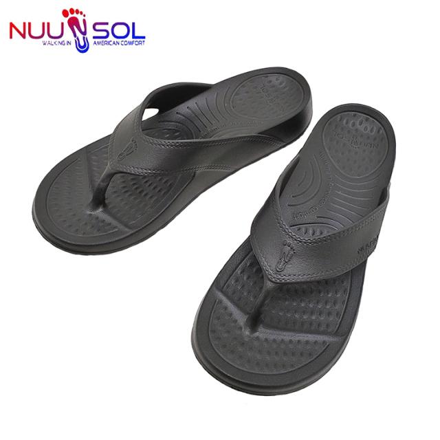 NUUSOL ヌーソル COMFORT SANDAL コンフォート サンダル ビーチサンダル ラバー メンズ ブラック   〔FL〕